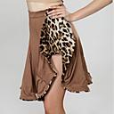 abordables Ropa para Baile de Salón-Baile de Salón Pantalones y Faldas Mujer Rendimiento Fibra de Leche Diseño / Estampado / Fruncido Cintura Media Faldas