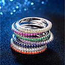Χαμηλού Κόστους Μοδάτο Δαχτυλίδι-Γυναικεία Κομψό Δαχτυλίδι Δαχτυλίδι για τη μέση των δαχτύλων Eternity Ring Χαλκός Επιμεταλλωμένο με Πλατίνα Προσομειωμένο διαμάντι Stea κυρίες Μοντέρνο Κορεάτικα Κομψό Μοδάτο Δαχτυλίδι Κοσμήματα