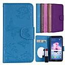 ieftine Cazuri telefon & Protectoare Ecran-Maska Pentru Huawei P smart Titluar Card / Întoarce / Model Carcasă Telefon Mată / Fluture Greu PU piele pentru P smart