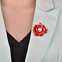 זול סיכות אופנתיות-בגדי ריקוד נשים 3D תפס לשיער - דמוי פנינה פרח וינטאג', ארופאי סִכָּה שחור / אדום עבור מסיבת ערב / משרד קריירה