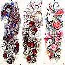 billige Midlertidige tatoveringer-3 pcs midlertidige Tatoveringer Dyre Serier / Blomster Serier Glatt klistremerke / Økovennlig / Til engangsbruk kropps~~POS=TRUNC arm / Bein / Decal-stil midlertidige tatoveringer