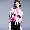 baratos Broches e Pins-Mulheres Camisa Social Negócio / Activo Estampado, Floral