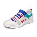 זול סניקרס לגברים-בגדי ריקוד גברים PU / בד גמיש קיץ נוחות נעלי אתלטיקה ריצה / הליכה קולור בלוק ירוק / כחול