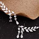 cheap Earrings-Women's Cubic Zirconia Tassel Stud Earrings / Ear Climbers - Leaf Simple, Tassel Gold / Silver For Party / Gift / Daily