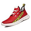 זול נעלי ספורט לגברים-בגדי ריקוד גברים סטן קיץ נוחות נעלי אתלטיקה לבן / שחור / אדום