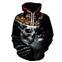 abordables Zapatillas de Deportiva de Hombre-Hombre Básico / Exagerado Sudadera - Estampado, 3D / Cráneos