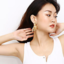 cheap Reborn Doll-Women's Drop Earrings Long Ladies Dangling Hyperbole Fashion Hammered Earrings Jewelry Gold / Silver For Gift Going out 1 Pair