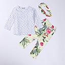 ieftine Set Îmbrăcăminte Bebeluși-Bebelus Fete Casual / Activ Concediu Geometric Funde / Imprimeu Manșon Lung Set Îmbrăcăminte / Copil