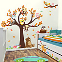 billige Veggklistremerker-Dekorative Mur Klistermærker - Animal Wall Stickers Dyr / Blomstret / Botanisk Stue / Soverom / Baderom