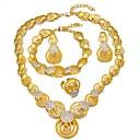 זול נעליים לטיניות-בגדי ריקוד נשים שכבות סט תכשיטים - ציפוי זהב 18 קאראט אתני לִכלוֹל צמידים עגילי טיפה שרשראות תליון זהב עבור ארוסים אָהוּב / טבעת