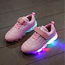 preiswerte Herren Freizeitschuhe-Mädchen Schuhe PU Frühling Sommer Komfort Sportschuhe Walking LED für Junior Weiß / Schwarz / Rosa