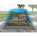 رخيصةأون مفارش و خيم و كانوبي-8 أشخاص خيمة شفافة منزل شفاف في الهواء الطلق مقاوم للأشعة فوق البنفسجية التنفس إمكانية طبقات مزدوجة أوتوماتيكي خيمة التخييم 2000-3000 mm إلى Camping / Hiking / Caving تنزه قماش اكسفورد PE ستانلس ستيل