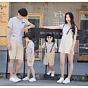 ieftine Set Îmbrăcăminte De Familie-Familie Uite Dungi Manșon scurt Set Îmbrăcăminte