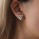 tanie Zestawy biżuterii-Damskie Elegancki Kolczyki sztyfty - Żywica Kreatywne Geometric Shape, Koreański, Moda Biały / Czarny Na Impreza / Wieczór / Prezent / Codzienny