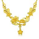 זול שרשרת אופנתית-בגדי ריקוד נשים קלאסי שרשרת / שרשרת שרשראות - ציפוי זהב פרח מסוגנן, אסייתי, פאר חמוד זהב 45 cm שרשראות תכשיטים 1pc עבור חתונה, מסיבה\אירוע ערב