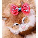 tanie Wydruki-Gryzonie / Psy / Króliki Kokardy Ubrania dla psów Kokarda / Księżniczka Kolor losowy Materiał Kostium Dla zwierząt domowych Stroiki / Biżuteria kostiumowa