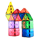 זול בלוקים מגנטיים-אריחים מגנטיים 56 pcs יצירתי דגם גיאומטרי צבע הדרגתי כל בנים בנות צעצועים מתנות