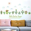abordables Adhesivos de Pared-Calcomanías Decorativas de Pared - Calcomanías de Aviones para Pared Floral / Botánico Sala de estar / Dormitorio / Baño