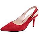 رخيصةأون قباقيب نسائية-للمرأة أحذية PU صيف ظهر مفتوح صنادل كعب ستيلتو حذاء براس مدبب أسود / أحمر