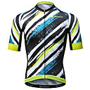 cheap Cycling Jerseys-Mysenlan Men's Short Sleeve Cycling Jersey - Yellow+Blue Stripe Bike Jersey Polyester / Expert / Advanced Sewing Techniques / Italy Imported Ink / Breathable Armpits