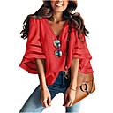 billige Øredobber-Skjorte Dame - Ensfarget Grunnleggende