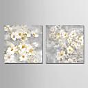 abordables Óleos-Estampado Impresiones en Lienzo Estirado - Naturaleza y Exterior / Floral / Botánico Modern