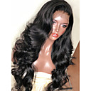 cheap Costume Wigs-Synthetic Wig / Synthetic Lace Front Wig Wavy Layered Haircut Synthetic Hair with Baby Hair / Soft / Heat Resistant Black Wig Women's Long Lace Front Natural Black Dark Brown Modernfairy Hair / Yes