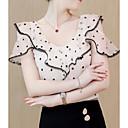 cheap Lip Stain-women's blouse - polka dot round neck