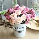 baratos Artigos de Forno-Flores artificiais 1 Ramo Clássico Rústico / buquês de Noiva Rosas Flor de Mesa
