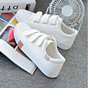 cheap Women's Boots-Women's Shoes Canvas Spring / Summer Comfort Sneakers Flat Heel Round Toe White / Black / Pink