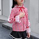 ieftine Seturi Îmbrăcăminte Fete-Copii Fete Activ / Șic Stradă Zilnic / Ieșire Plisat / Peteci Dantelă Manșon Lung Regular Celofibră / Poliester Cămașă Albastru piscină 140