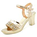 ieftine Sandale de Damă-Pentru femei PU Vară Pantof cu Berete Sandale Toc Îndesat Auriu / Argintiu