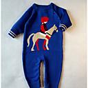 ieftine Set Îmbrăcăminte Bebeluși-Bebelus Fete De Bază Mată / Imprimeu Manșon Lung Bumbac Salopetă / Copil