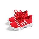 povoljno Cipele za djevojčice-Djevojčice Cipele Mrežica Jesen zima Udobne cipele Sneakers Hodanje Vezanje za Djeca / Tinejdžer Crn / Crvena / Pink