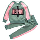 cheap Girls' Clothing Sets-Kids Girls' Print Long Sleeve Clothing Set