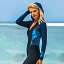 cheap Wetsuits, Diving Suits & Rash Guard Shirts-SBART Women's Rash Guard Dive Skin Suit Quick Dry, Wearable, Breathable Nylon Full Body Swimwear Beach Wear Diving Suit Patchwork Front Zip Diving / Watersports / High Elasticity