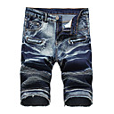 cheap Men's Rings-Men's Jeans / Shorts Pants - Solid Colored Ruched