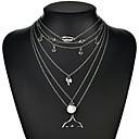 ieftine Colier la Modă-Pentru femei Lung Coliere Layered - Dolphin, Scoică Artistic, Modă Argintiu 40 cm Coliere Bijuterii 1 buc Pentru Serată, aleasă a inimii