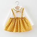 povoljno Haljinice za bebe-Dijete Djevojčice Na točkice / Kolaž Dugih rukava Haljina