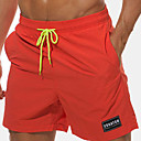 cheap Men's Slippers & Flip-Flops-Men's Boho Plus Size Cotton Chinos / Shorts Pants - Solid Colored / Letter Embroidered / Print Orange / Summer / Beach