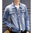 olcso Tartozékok-Vintage Férfi Traper jakne - Egyszínű, Túlméretezett