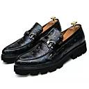 זול נעלי בד ומוקסינים לגברים-בגדי ריקוד גברים דמוי עור / PU קיץ נוחות נעליים ללא שרוכים קולור בלוק שחור / אדום / כחול
