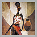 cheap Oil Paintings-Oil Painting Hand Painted - People Modern Canvas