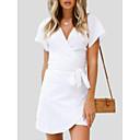 cheap Wallets-Women's Going out Slim Sheath Dress High Waist V Neck