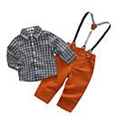 ieftine Costum Baie Fete-Bebelus Băieți Casual Ieșire Carouri Manșon Lung Set Îmbrăcăminte / Copil