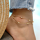 cheap Women's Sandals-Layered Anklet Ankle Bracelet - Drop Bohemian, Fashion Gold / Silver For Holiday / Going out / Women's
