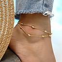 baratos Braceletes-Camadas Tornezeleira tornozeleira - Caído Boêmio, Fashion Dourado / Prata Para Feriado / Para Noite / Mulheres