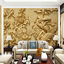 preiswerte Wandgemälde-große mural tapete pfingstrose fasan figur geeignet für wohnzimmer schlafzimmer tv hintergrund wandbelag 448 × 280 cm