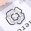 cheap Pins and Brooches-Women's AAA Cubic Zirconia Hollow Out Brooches - Elegant Brooch Black For Wedding / Festival