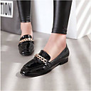 ieftine Flip-Flops de Damă-Pentru femei Pantofi Piele Originală Vară Confortabili Pantofi Flați Toc Drept Vârf Închis Alb / Negru / Rosu